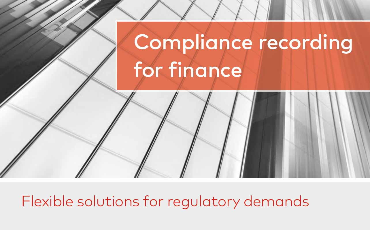 Compliance recording for finance image