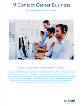 Mitel MiContact Centre Business