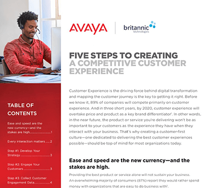 5 Steps to Creating Competitive CX White Paper