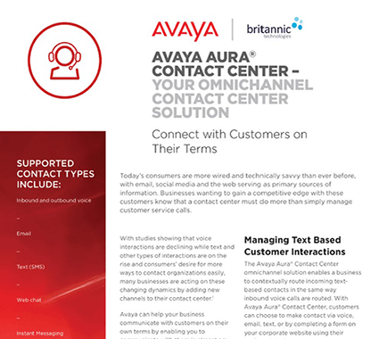 Avaya Aura Contact Centre Solution White Paper