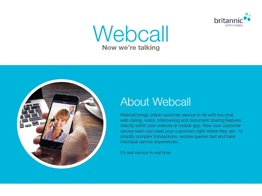 Webcall Product Sheet