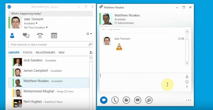 Skype for Business: Send and Receive a file