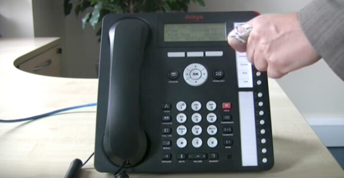 Using call log - Avaya IP Office 1616 series telephone