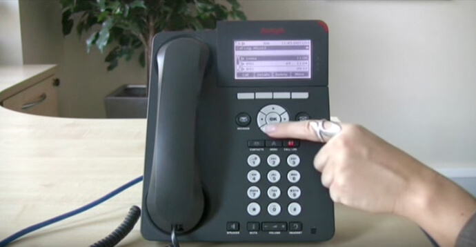 Using the call log function - Avaya IP Office 96 series telephone