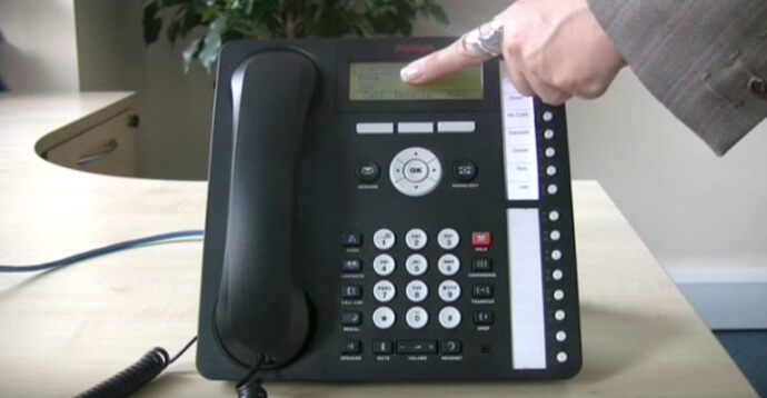 Using the directory - Avaya IP Office 1616 series telephone