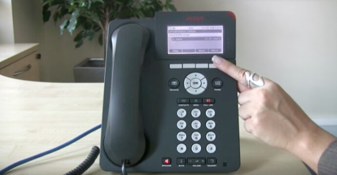 Using voicemail - Avaya IP Office 96 series telephone